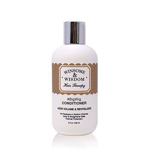 BigWig Volume Daily Conditioner for Thin Thinning Fine Hair Sulfate Paraben Free Volumizing Thermal Protectant Women Men 8.5 oz Winsome & Wisdom Cruelty Free Professional Hair Care Products