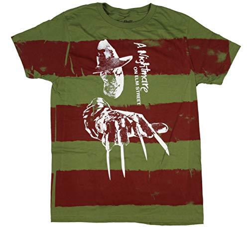 Seven Times Six A Nightmare On ELM Street Freddy Krueger Men's Bladed Glove Striped T-Shirt