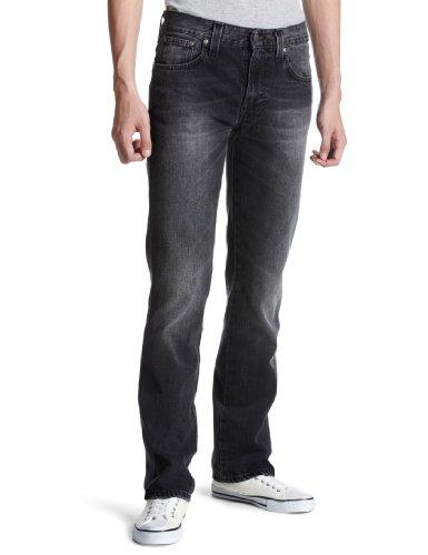 Nudie Jeans Slim Jim Usato Nero Twill Grigio 33W x 32L
