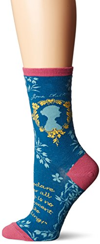 Socksmith Jane Austen Steel Blue One Size