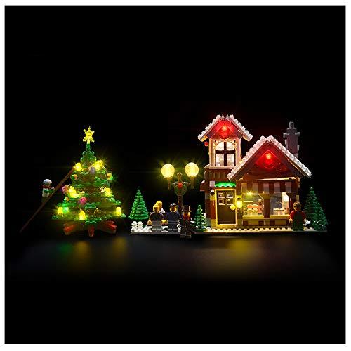 FLYM Adecuado para Juguetes (Serie Tienda De Navidad) Accesorios De Iluminación para La Construcción De Bloques, Compatible con Lego 10249 Iluminación LED (Este Modelo No Se Incluye)