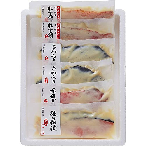 ( 産地直送 お取り寄せグルメ ) 下関唐戸市場・林商店 魚ノ純米大吟醸粕漬ケ ( 切身6切レ )
