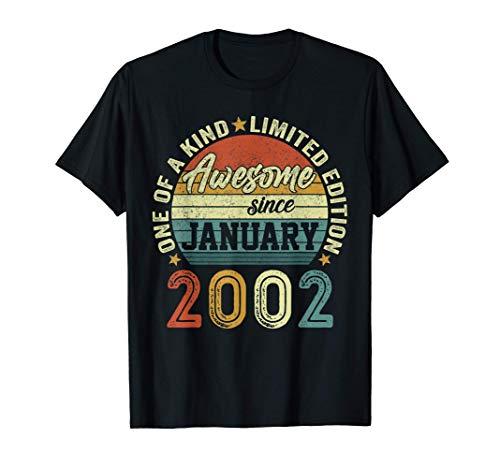 Nacido En Enero 2002 Regalo Hombre 19 Años Cumpleaños Mujer Camiseta