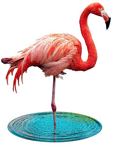 MADD 4009-IAMLFlamingo CAPP 884009 Shape Puzzle Junior Flamingo, Konturpuzzle 100 Teile, für Kinder und Erwachsene, Mehrfarbig