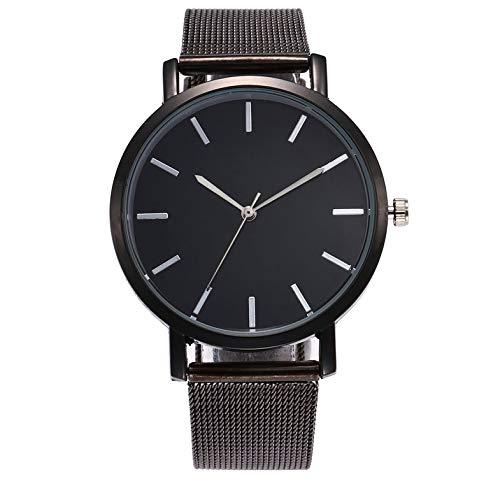 CamKpell ZA13-W Korean Casual Watch Frauen wasserdicht Luxusuhren Datum Quarzuhr Legierung Mesh Gürtel Uhren für Damen - schwarz