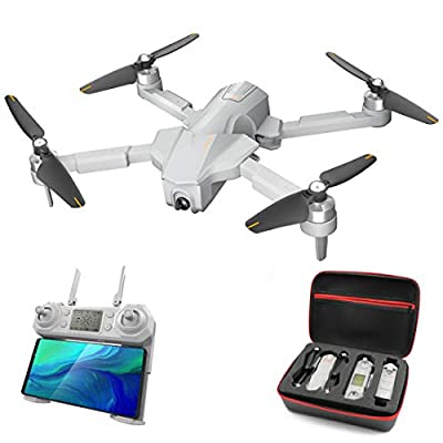 Dittzz Drone with Camera,4K HD GPS Brushless Aerial Photography Drone Gesture Photo Quadcopter Folding RC Drone with Storage Bag