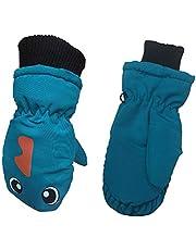 BSTQC Baby vantar, 1 par söta ansikte barn varma handskar för pojkar flickor ålder 3-6 år, vattentäta vindtäta skidhandskar