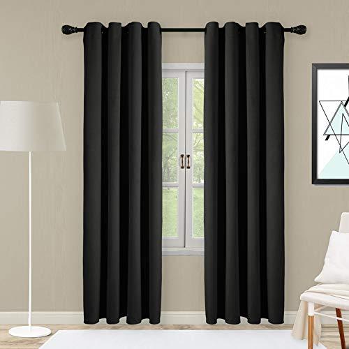 SNITIE Black Velvet Curtains wit...