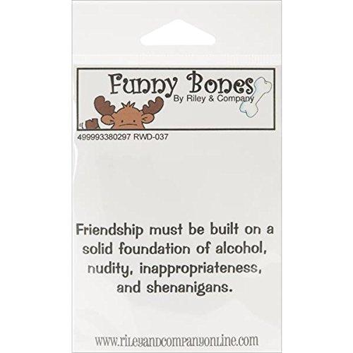 Riley & Compagnie Funny Bones en Caoutchouc Tampon étirable – 8,3 cm x 3,2 cm, Massif Teint d'amitié