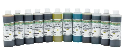 Concrete Stain Professional Easy to Use Acid Stain Sample Kit - 12 Colors 16oz bottles