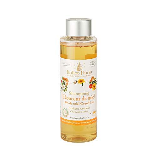 Ballot Flurin - Shampoing Douceur Miel - Fabriqué en France - certifié Cosmébio - 250 ml