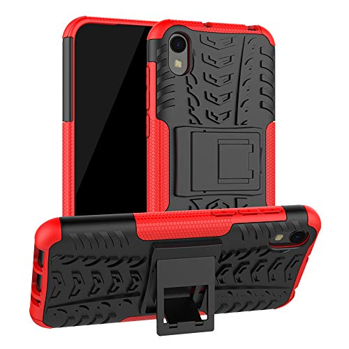 LFDZ Compatible Huawei Y5 2019 Hülle, Abdeckung Cover schutzhülle Tough Strong Rugged Shock Proof Heavy Duty Hülle Für Huawei Y5 2019 / Honor 8S (Nicht für Huawei Y5 2018),Rot