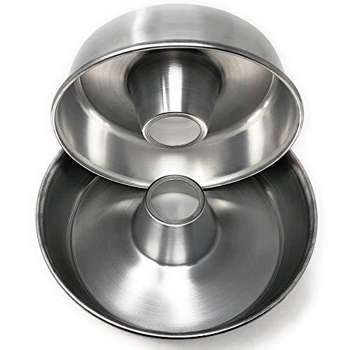MGE - Bizcochera - Molde Savarín - Aluminio - Set de 2 Medidas - Diámetros 24 y 28 cm - Hecho en España