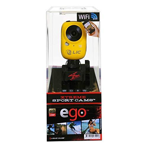Liquid Image EGO Action-Cam (12 Megapixel CMOS Sensor, microSDHC-Kartenslot, USB 2.0) gelb