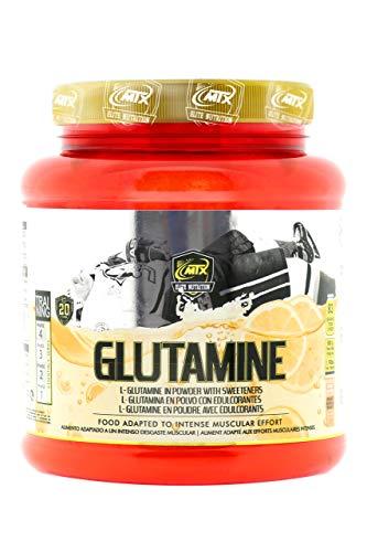 MTX nutrition GLUTAMINE R.GOLD (500g.) Naranja – Suplemento PREMIUM de L-Glutamina en polvo KIOWA_Quality enriquecida con Vitamina B6 y aromatizada con sabores naturales.