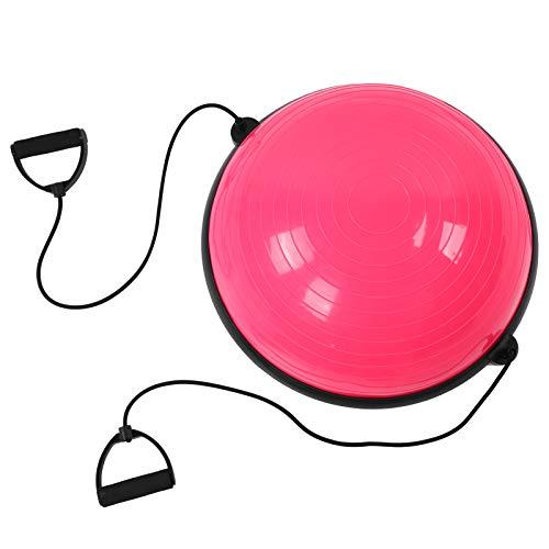 Shipenophy Fabricación Profesional Media Bola de Yoga Buena flexibilidad, para Ejercicios(Pink)