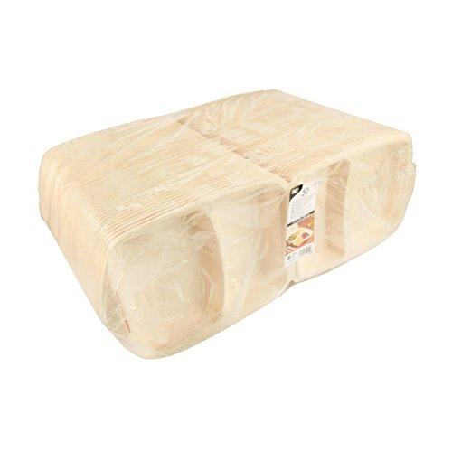 PAPSTAR menuboxen met klapdeksel, EPS, beige, 41 x 56 x 22,5 cm