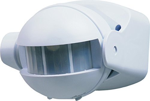 Sensor Detector de Movimiento 180° 12 m Blanco Luz de Seguridad...