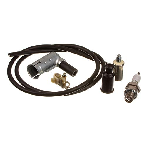 SET Zündung Simson, Kabel schwarz + Zündkerze BERU Isolator 260, Kerzenstecker BERU, Kondensator + Unterbrecherkontakt