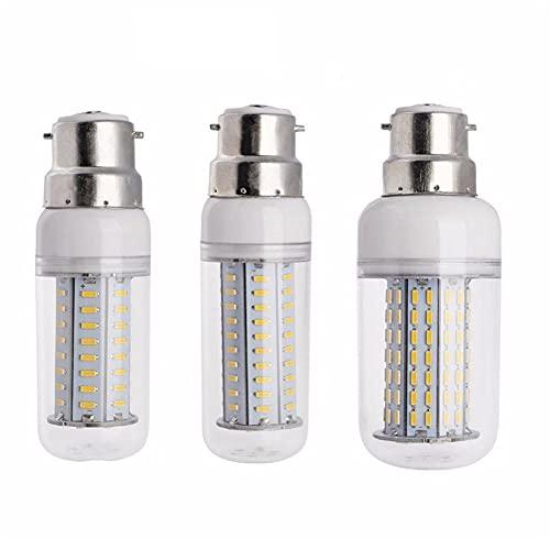 GHC LED Bombillas Lámpara de maíz LED 4014 SMD AC 110V 220V Dimmable B22 Bayoneta 64/80/126 / Leds Hogar Energía Ahorro Lighting Chandelier (Color emisivo : Warm White, Support Dimmer : Yes)