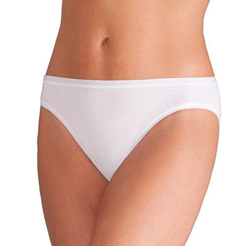 4x ESGE Pompadour Bikinislip Slip Höschen Bio-Baumwolle Sparpack (38, Weiss)