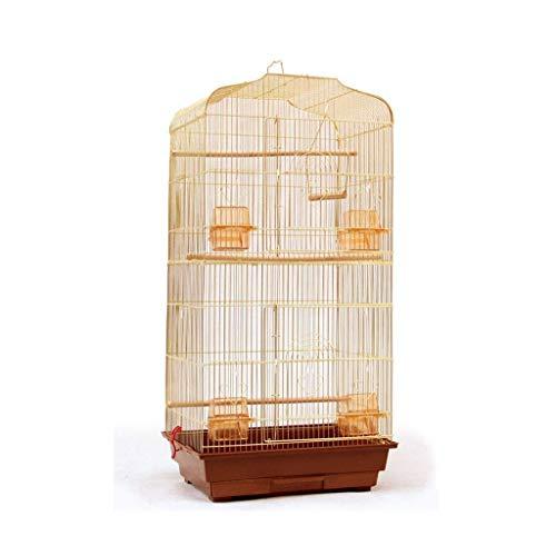 Großer Vogelbeobachtungskäfig, Pet Shop Schule Vogelkäfige Goldene glatte Oberfläche Birdcage In Metall 46 * 36 * 93cm (Farbe: E, Größe: 46 * 36 * 93cm) 8bayfa (Color : A, Size : 46 * 36 * 93CM)