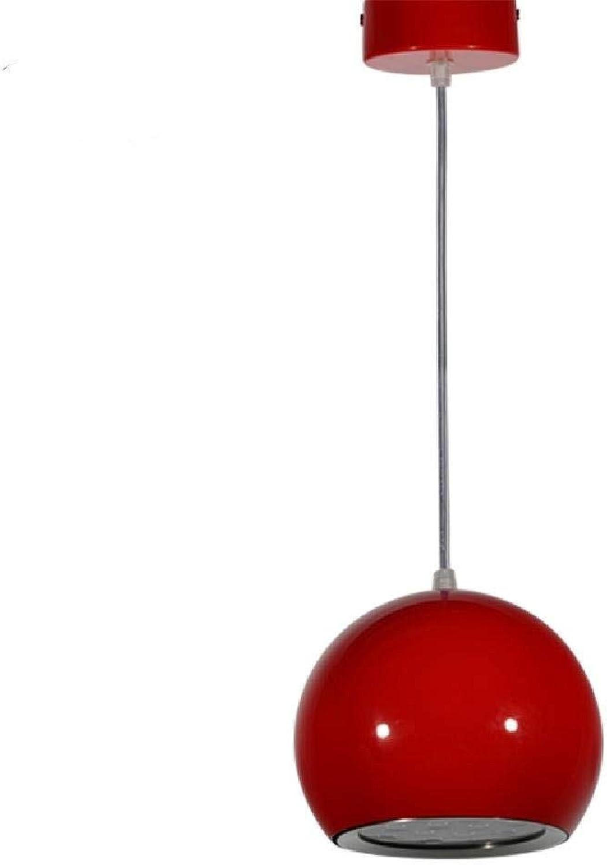 JFFFFWI Pendelleuchten LED Modern Zeitgenssisch Globe Esszimmer Küche Arbeitszimmer Büro Kinderzimmer Spielzimmer Flur Metall, Rot