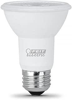 FEIT ELECTRIC PAR20/SP/LEDG10 Dimmable Led Lamp, 50 W, 120 Vac, E26 (Medium) Base, Warm, 450 Lumens, 25000 Hr, White