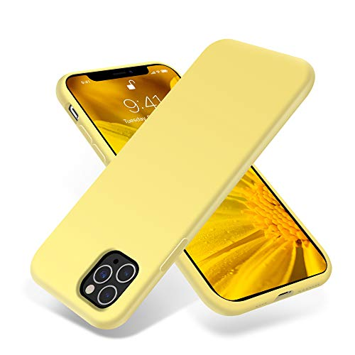 OTOFLY iPhone 11 Pro Max Case,Ultra Slim Fit iPhone Case Liquid Silicone Gel Cover with Full Body Protection Anti-Scratch Shockproof Case Compatible with iPhone 11 Pro Max (Yellow)