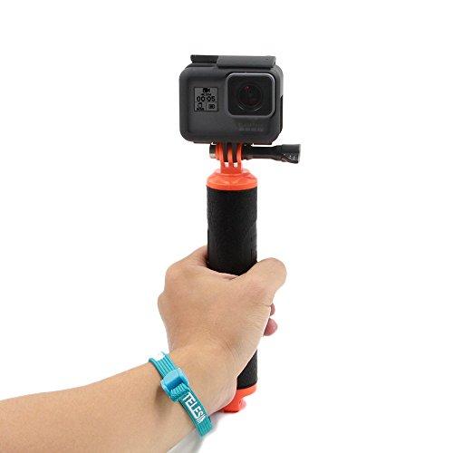 TELESIN boya de buceo POV Monopod impermeable flotante Mano Grip de mano para trípode compatible con GoPro Hero 8/7/6/5 Hero 4 Sesión,Hero 2/3/3 +/4 DJI Osmo Action cámara