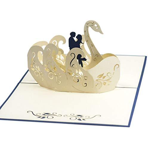 Favour Pop Up Glückwunschkarte zur Hochzeit. TW013