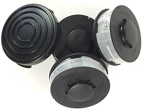 Grizzly 3 Ersatz Spule + 1 Haube/Deckel passend für King Craft KCR 450, KCR 451, KCR 500 Spulenabdeckung Elektro Rasentrimmer ALDI HOFER Fadenspule Kingcraft Trimmerspule Deckel