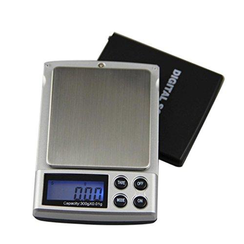 Zarupeng Mini Palm sieraden weegschaal, precisie digitale weegschaal, precisieweegschaal, goudweegschaal, gramweegschaal, elektronische weegschaal 300g/0,01 g