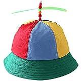 Sombrero de Hélice Sombrero de Payaso de Helicóptero Gorro Niños Helicóptero Hélice Gorras de Arco Iris Sombrero Colorido de Disfraces de Fiesta Unisexo, Sombrero de Hélice Sombrero de Pescador