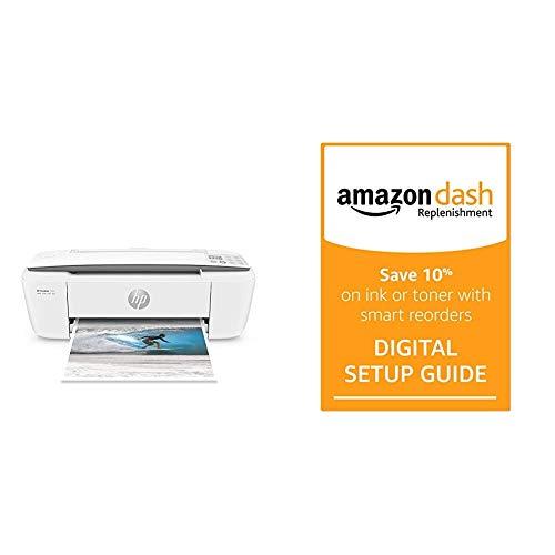 HP DeskJet 3755 Compact All-in-One Wireless Printer + Amazon Dash Replenishment Digital Setup Guide