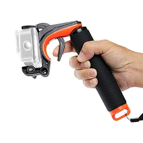 WWHSS -Shutter Trigger + Floating Hand Grip Diving Buoyancy Stick with Adjustable Anti-lost Strap & Screw & Wrench for GoPro HERO8 Black DIY