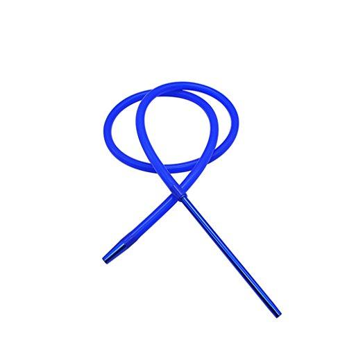 Gankmachine 1.8M Hookah Shisha Manguera de Aluminio con vástago de la Manguera del silicón Shisha cachimba de la Manguera Pipa Moderno Azul