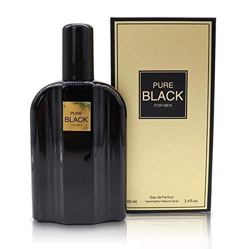 PURE BLACK,3.4 Fluid Ounce Eau de Parfum Spray for Men, Perfect Gift