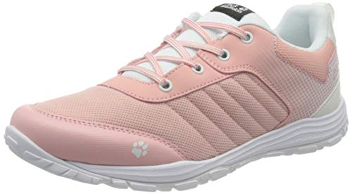 Jack Wolfskin Unisex-Kinder Cascade Low K Cross-Trainer, Pink (White/Light Pink 5086), 37 EU