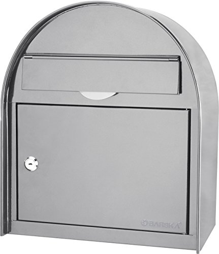 BARSKA unisex-adult CB13254 Large Wall Mount Classic Collection Locking Drop Suggestion Mail Box, Gray
