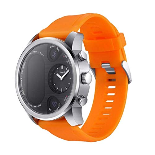 Intelligente Uhr Armband Farbdisplay Business Intelligence Activity Tracker mit Zwei Anzeigen Wasserdicht Orange