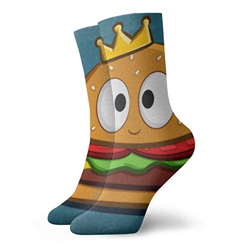 flys christmas stockings personalized Burger King Unisex Fun Cool 3D Print Colorful Athletic Sport Novelty Crew Tube Socks