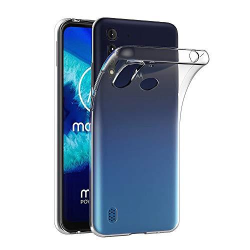 AICEK Hülle Compatible für Motorola Moto G8 Power Lite Transparent Silikon Schutzhülle für Moto G8 Power Lite Hülle Clear Durchsichtige TPU Bumper Moto G8 Power Lite Handyhülle (6,5 Zoll)