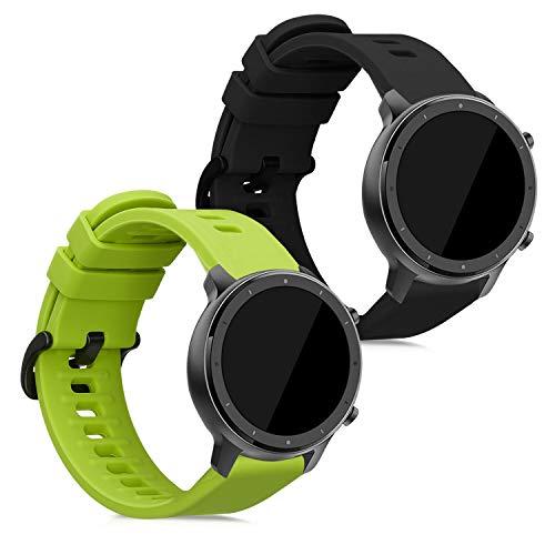 kwmobile Cinturino in Silicone Compatibile con Xiaomi Huami Amazfit GTR (47mm) / GTR 2-2X Fascetta Fitness Tracker con Fibbia ca.