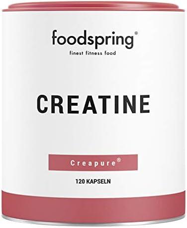 foodspring Creatina cápsulas, 120 cápsulas, Refuerzo para ...