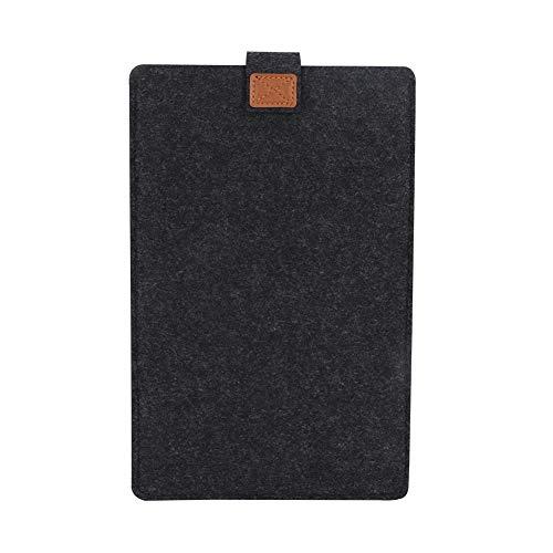 Duokon Lichtgewicht slanke vilten pad sleeve tas laptop case cover protector donkergrijs milieuvriendelijk schokbestendig tablet