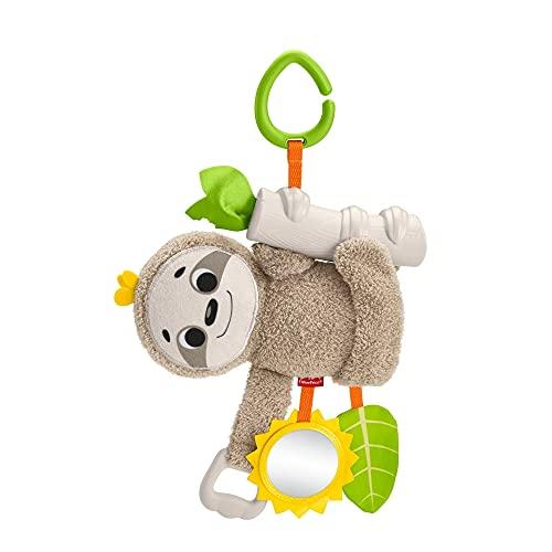 Fisher-Price - Oso perezoso activity, juguete colgante con actividades para bebés recién nacidos (Mattel GHL39) , color/modelo surtido