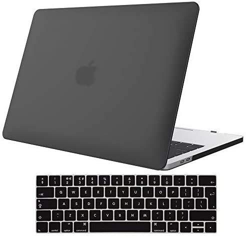 ProCase Funda para MacBook Pro 13 A1989 A1706 A1708 A2159 (2019 2018 2017 2016),Carcasa Dura Ultra Delgado y Protector de Teclado para MacBook Pro 13' con/sin Touch Bar y Touch ID –Negro