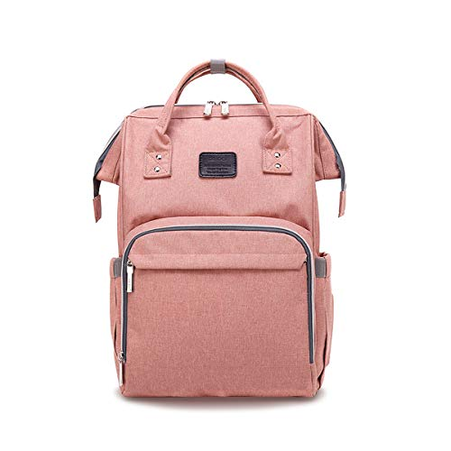 SONARIN Multifunktions Baby Wickelrucksack mit Kinderwagen Strap,Große Kapazität,Wickeltasche,Reise-Rucksack-Organizer,Wasserdicht,Anti-Dirty Transparent Film,Stilvoll,Ideal Geschenk(Rosa)