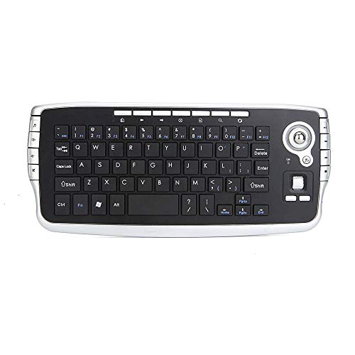 L-yxing obra de arte Teclado multimedia teclado trackball inalámbrico 2.4G mini teclado inalámbrico todo en un conjunto portátil multimedia soportes de teclado teclado multimedia de luz de fondo 78 te